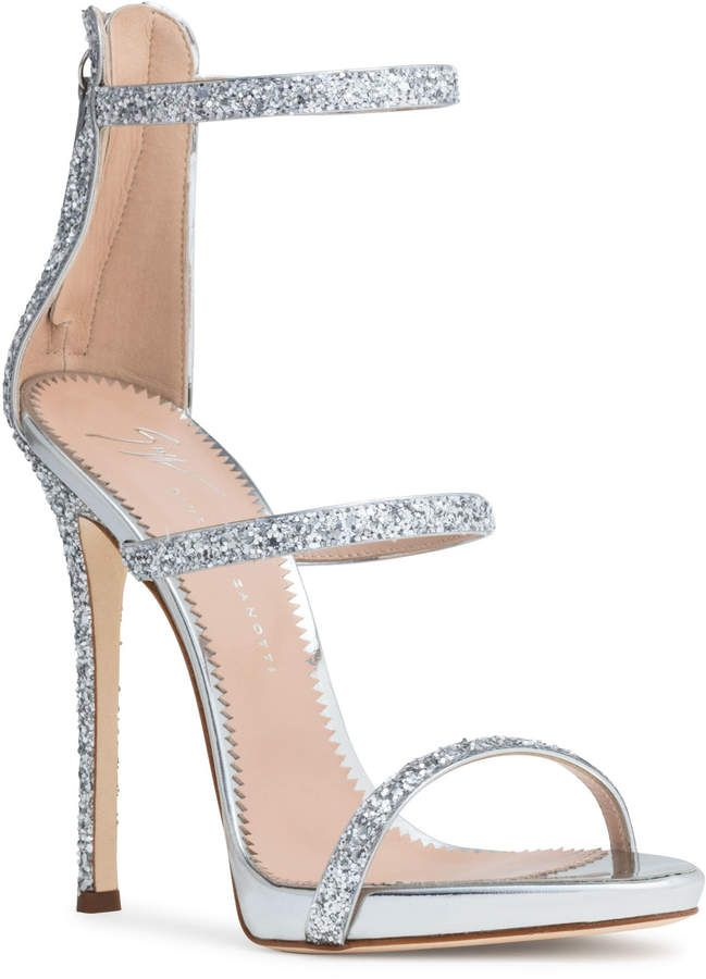 37a6d22ce16 Harmony 120 silver glitter sandals | Products | Giuseppe zanotti ...