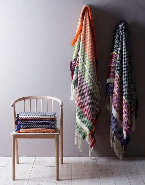 Andreas Engesvik - blankets inspired by the textiles of Norwegian folk costumes.