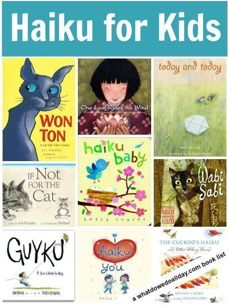 Haiku for kids. Read poetry books during National Poetry Month.