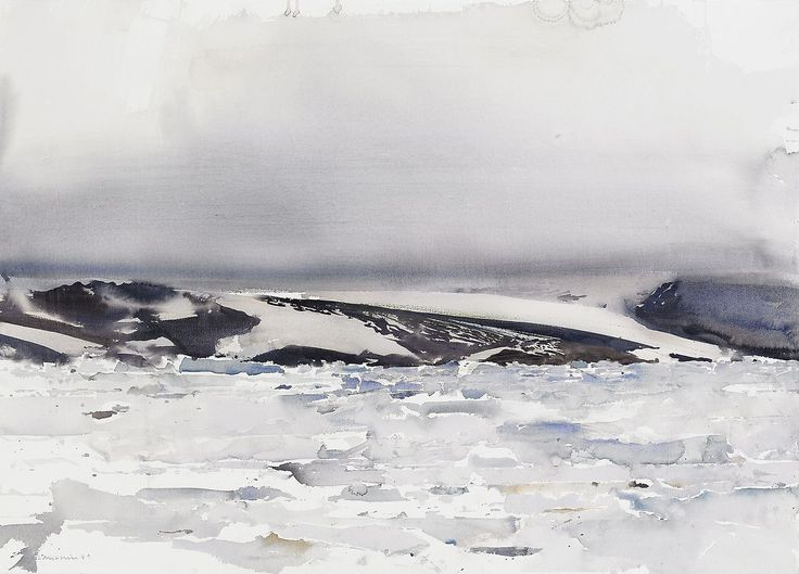 lars lerin watercolor | Lars Lerin (Swedish, b. 1954), Ishav II [Arctic Ocean II], 1989 ...
