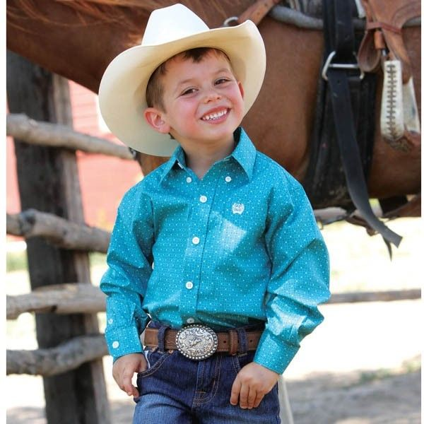cinch u00ae toddler l  s teal print button