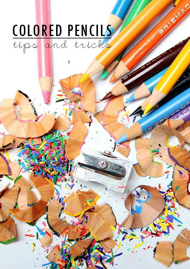 Colored pencils: a few tips and tricks
