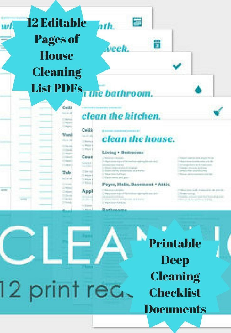 House cleaning and other chores actually prove to be quite fun when you have a chore calendar. 12 Editable Pages of House Cleaning List PDFs includes 12 printable deep cleaning checklist documents #ad #cleaning #organizing #editable #printable #checklists