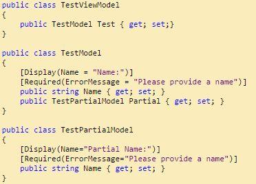 partial view partial model aspnet mvc http