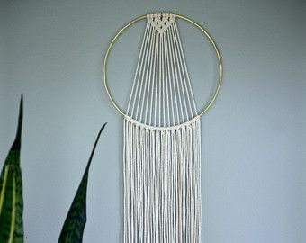 Macrame colgante de pared blanco Natural del por BermudaDream