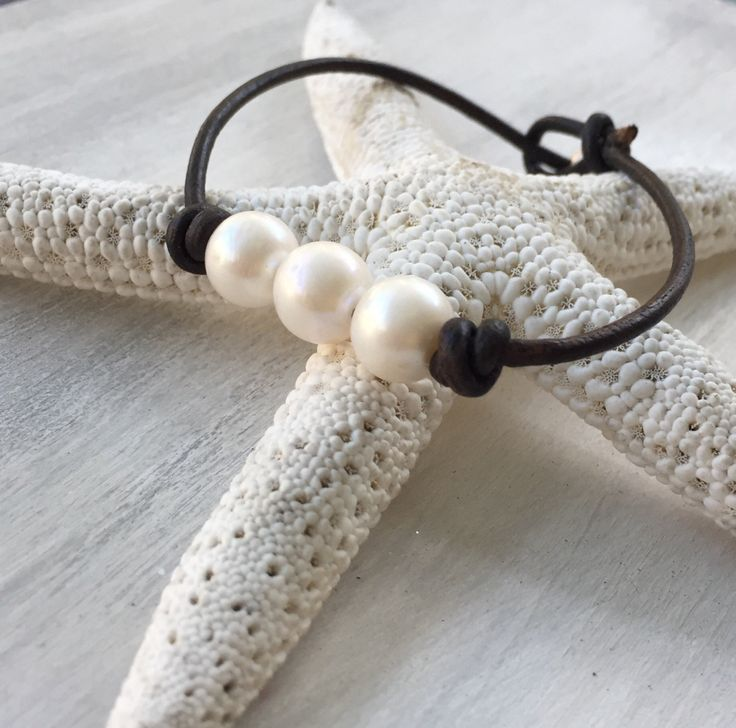 New in our shop! Leather pearl bracelet, pearl leather bracelet, leather and pearls, pearl bracelet, freshwater pearl bracelet, pearls and leather, pearls https://www.etsy.com/listing/256434554/leather-pearl-bracelet-pearl-leather?utm_campaign=crowdfire&utm_content=crowdfire&utm_medium=social&utm_source=pinterest