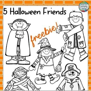 Printable halloween characters to use with the song and story five