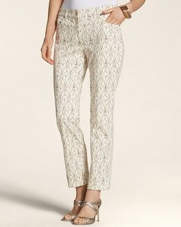 Chico's Rhinestone and Lace 5-Pocket Skimmer #chicos