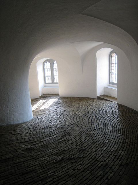 The spiral ramp in the Round Tower (Rundetaarn), Copenhagen (1637-42)