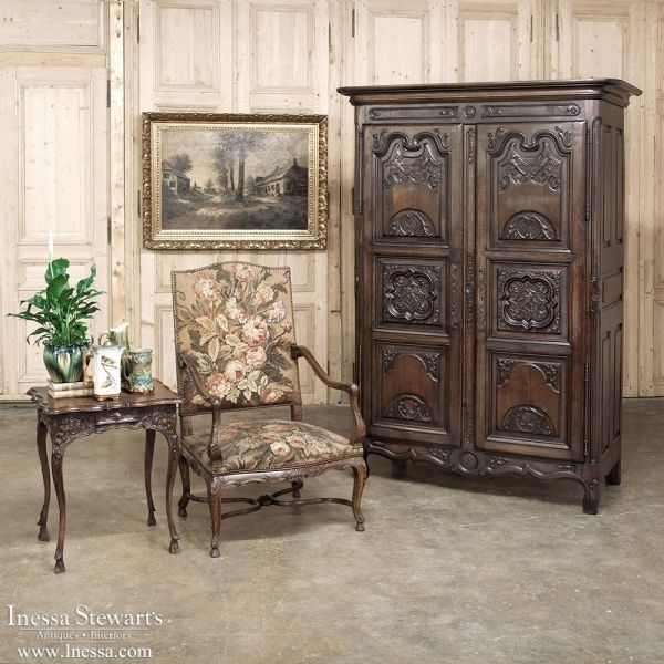 ANTIQUE HOME DECOR ~ Country French Armoires | 18th Century Country French  Armoire from Loire Valley - 30 Best ANTIQUE HOME DECOR Images On Pinterest Antique Furniture
