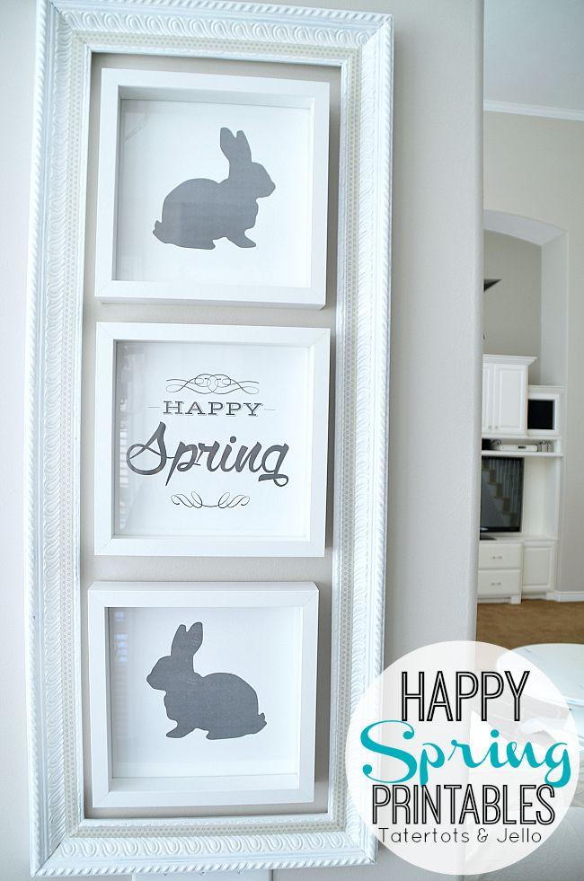 Happy spring free printables at tatertots and jello