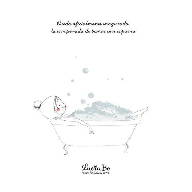 Queda oficialmente inaugurada la temporada alta de baños con espuma. Encuentra ese hueco para ti, que después de esta semana, te lo mereces  #losviernesdeluciabe #elprimerlibrodemrsbe #lavidaesunaverbena