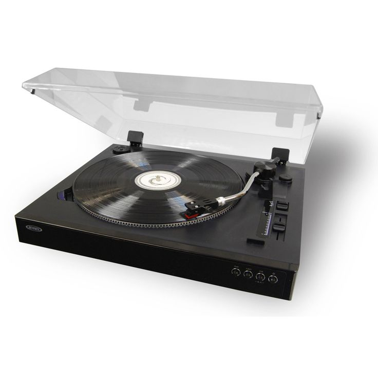 Jensen Professional Turntable Record Player with Speed Adjustement