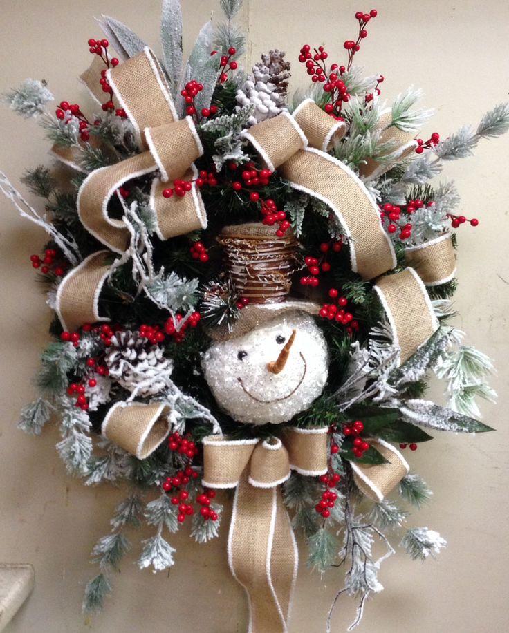 Best 25 snowman wreath ideas on pinterest snowman for Craft wreaths for sale