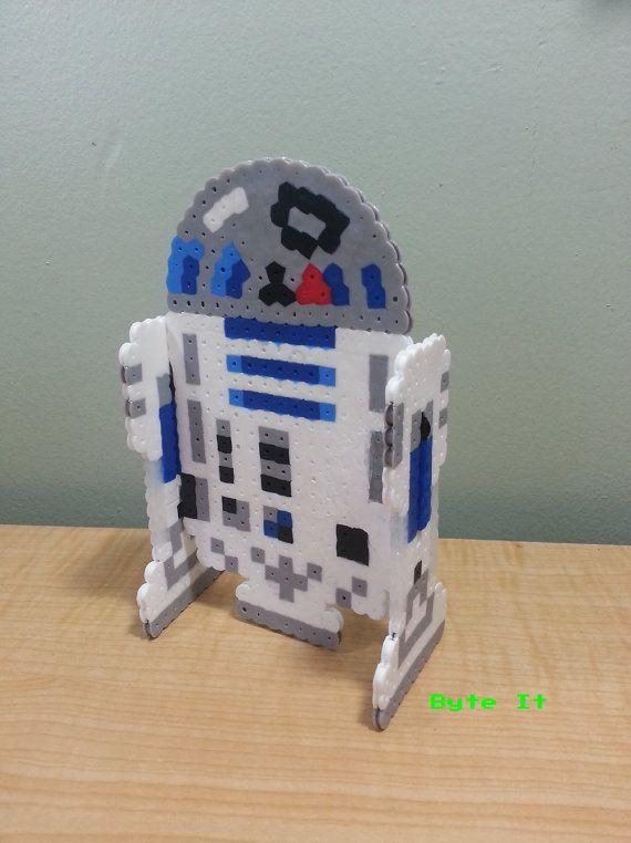3D R2D2 Star Wars Perler sprite by ByteIt
