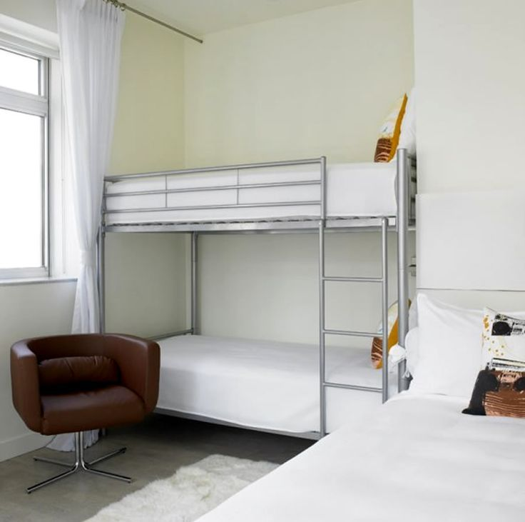 Small Bedroom Bunk Bed Ideas: Modern Chic Bedroom Queen Alcove Bunk Beds Furniture