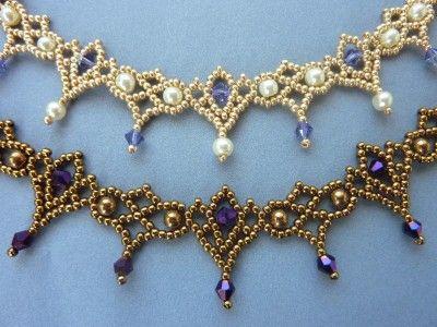 FREE beading pattern for Crystal Lace necklace #Seed #Bead #Tutorials .........................................................................................................Schmuck im Wert von mindestens   g e s c h e n k t  !! Silandu.de besuchen und Gutscheincode eingeben: HTTKQJNQ-2016