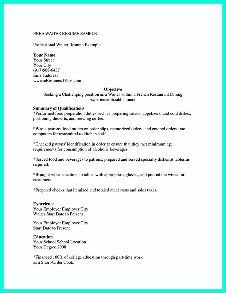 Cocktail Server Resume skills are needed so much by the company or the restaurants which want to hire you. In Cocktail Server Resume, you must state t... cocktail waitress resume example