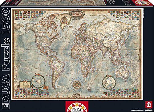 Mejores 10 imgenes de puzzles en pinterest rompecabezas buscando educa political map of the world puzzle 1500 piece gumiabroncs Images
