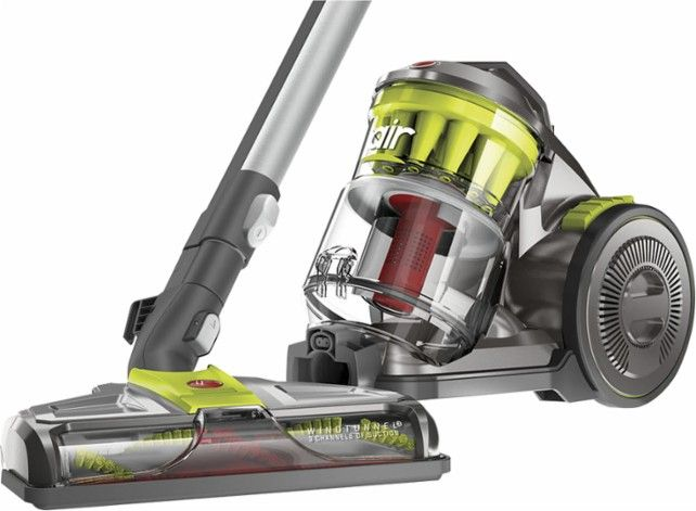 Hoover - WindTunnel Air Bagless Canister Vacuum - Gray - Front Zoom