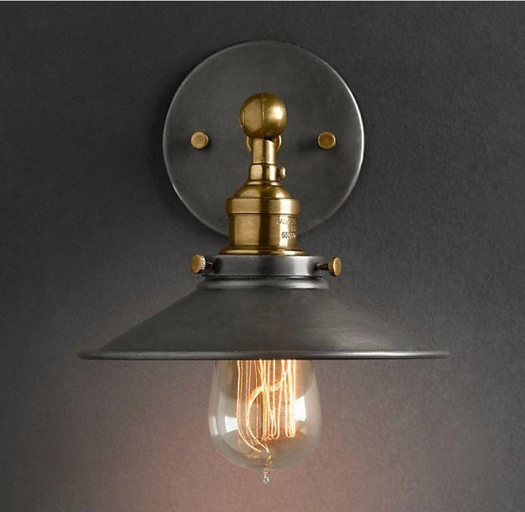 purelume retro vintage blurred lampe wandleuchte inkl 40w edison gl hbirne. Black Bedroom Furniture Sets. Home Design Ideas
