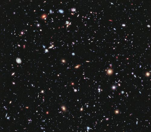 """""""This Is the Most Detailed Image of the Universe Ever Captured  NASA has just published the most detailed view of the Universe ever taken. It's called the Extreme Deep Field—or XDF for short. It took ten years of Hubble Space Telescope photographs to make it and it shows some the oldest galaxies ever observed by humans, going 13.2 billion years back in time."""""""