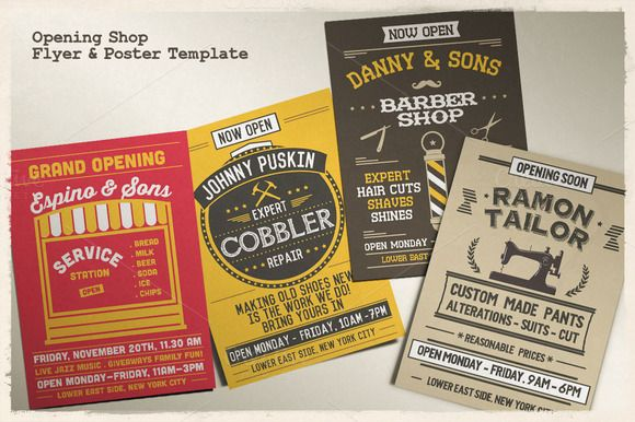 Opening Shop Flyer & Poster Template ~ Flyer Templates on Creative Market