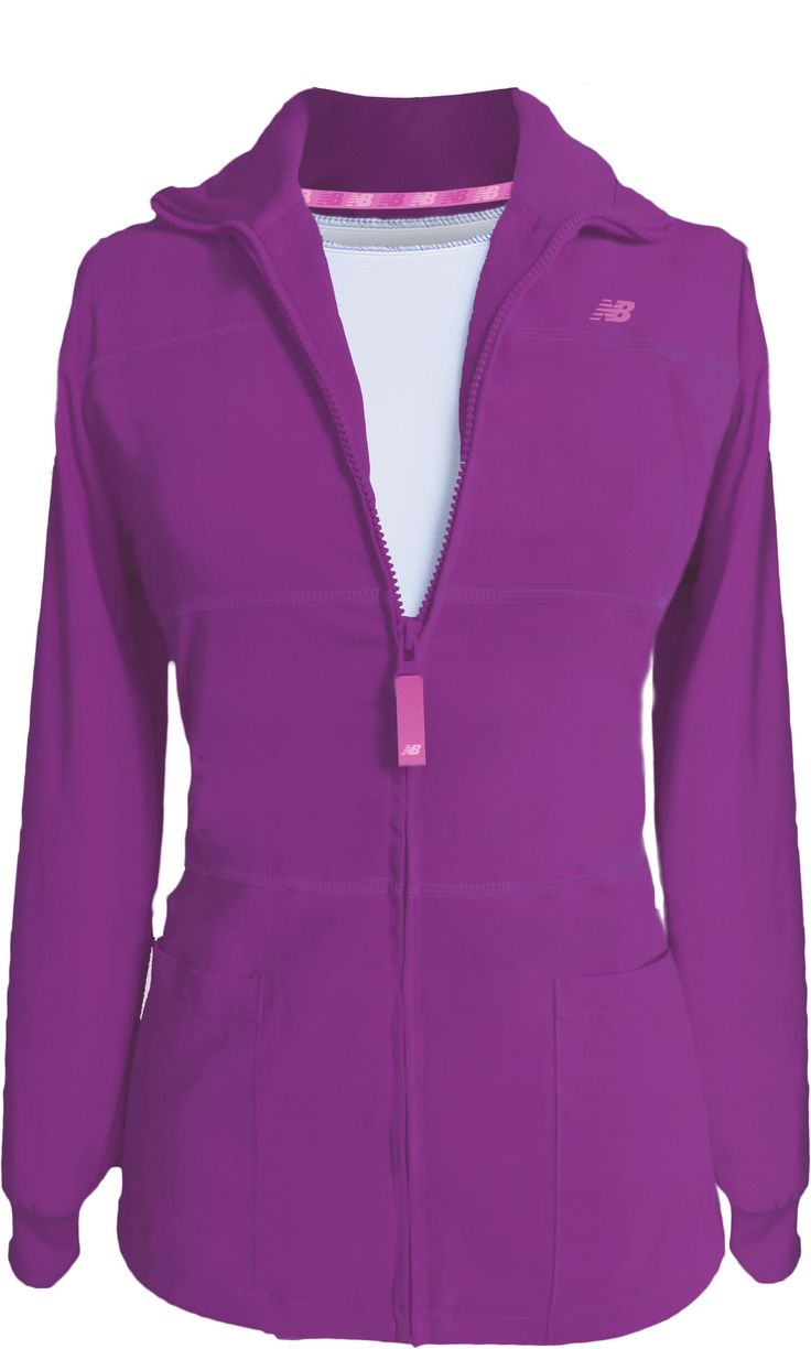 New Balance Stat Jacket. Pretty Vivid Violet New Color!