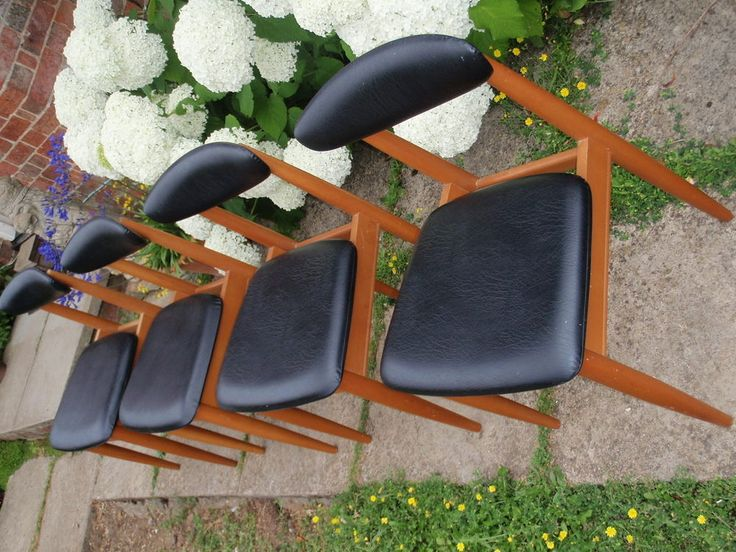 Schreiber dining chairs set of 4 1960 s-70 s (made in GB) Classic Retro Vintage
