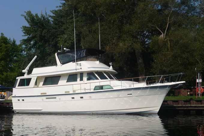 1985 Hatteras Flush Deck Flybridge Motoryacht Power Boat For Sale - www.yachtworld.com