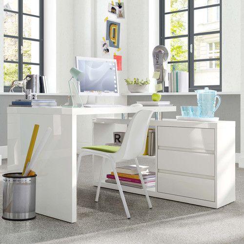 best 25 schreibtisch wei hochglanz ideas on pinterest. Black Bedroom Furniture Sets. Home Design Ideas