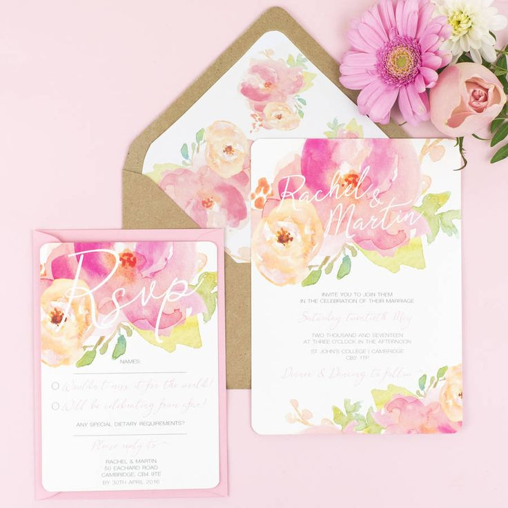 Are you interested in our floral wedding invitation? With our floral wedding invite you need look no further.