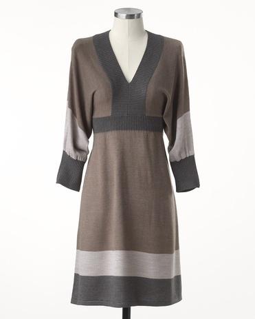 Dolman colorblock dress - [K16122]