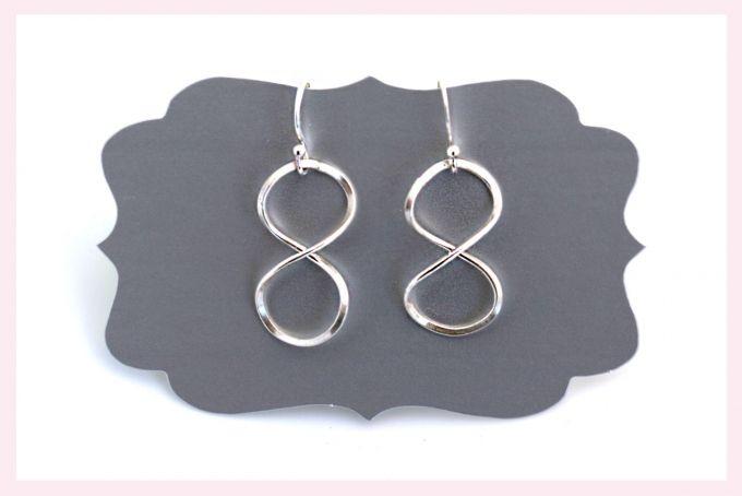 Infinity Earrings by Janine Binneman Jewellery Design on hellopretty.co.za