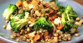 veganes Rezept mit Mungbohnen, Orangen und Brokkoli ✓ schnell und einfach nachkochen ✓  ☆ HIER zum Rezept