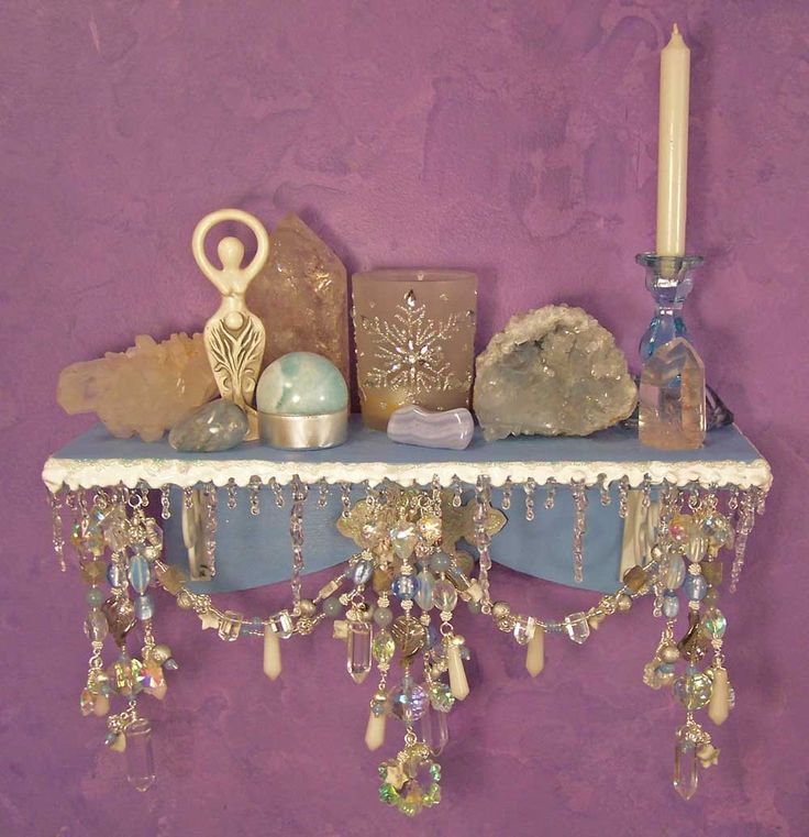 wall altars | Winter Wonderland Wall Altar OOAK Pagan Decor by EarthStarStudios