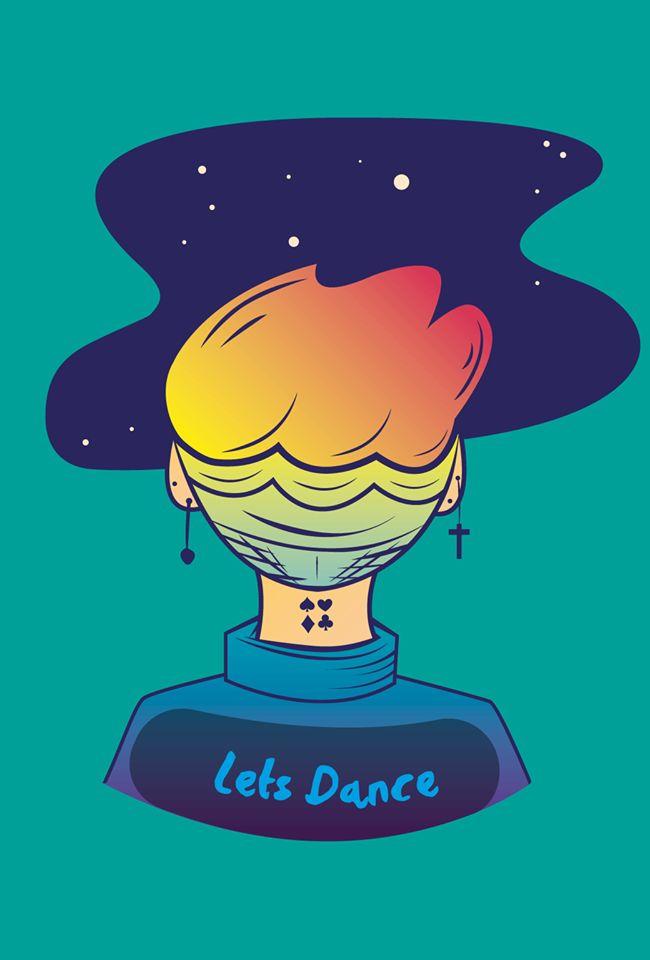 lets Dance #bowie #davidbowie #ilustracion #ilustration #universe