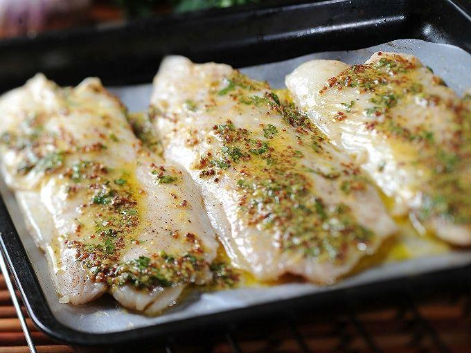 Receta de pescado a la mostaza