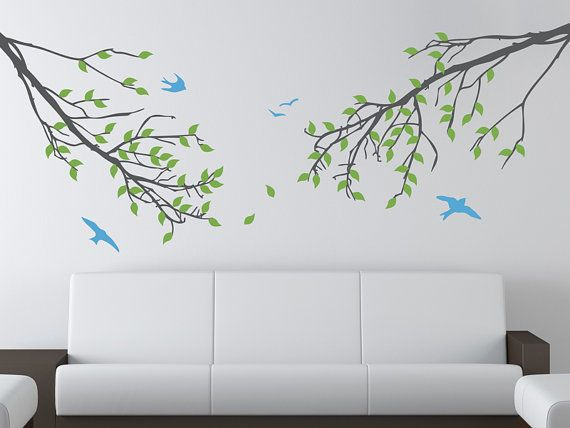 17 best images about bird decals on pinterest trees for Beautiful birch tree wall mural