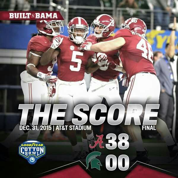 38 to 0 Alabama Football