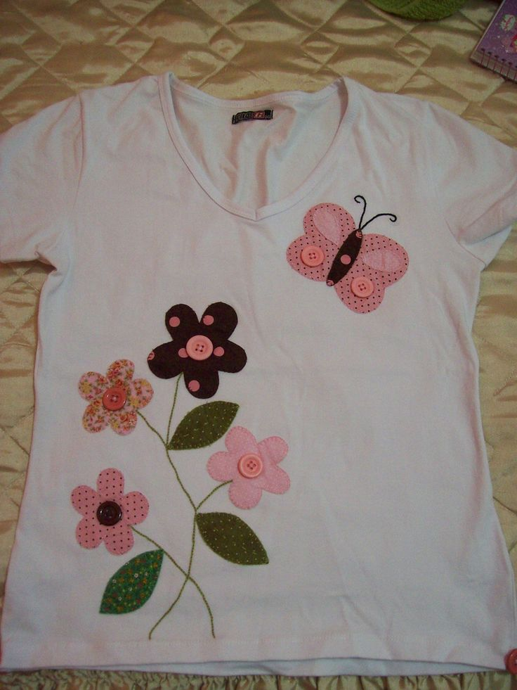 camiseta bordada de patchwork | Flickr - Photo Sharing!