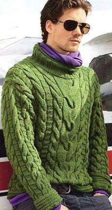 Пуловер для мужчин спицами