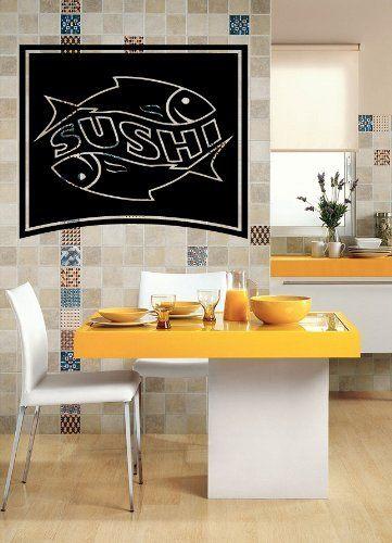 Restaurant Japanese Food Business Sushi Store Wall Art Decor Vinyl Sticker z639 by Easy Vinyl, http://www.amazon.com/dp/B00CLSLVAM/ref=cm_sw_r_pi_dp_XX3qsb1KBX17J