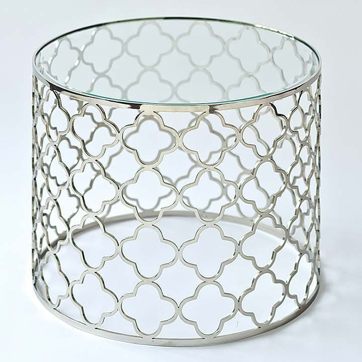 Elegant Southampton Brushed Nickel Accent Table