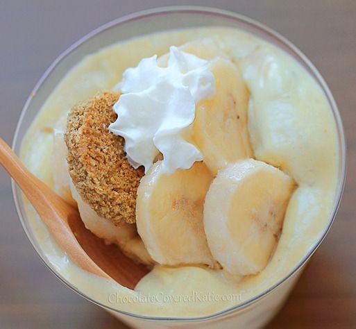 Southern Banana Pudding - The Secret Healthy Recipe: http://chocolatecoveredkatie.com/2013/07/11/banana-pudding-recipe-healthy/