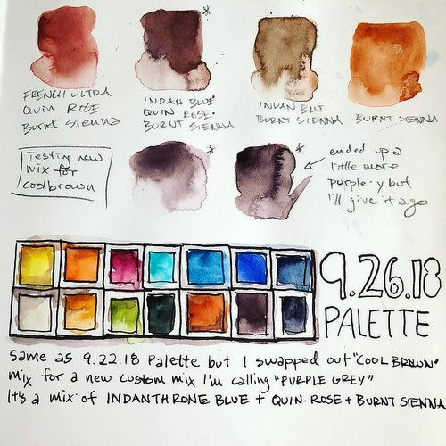 My Basic 12 Colour Palette Updated Basic Watercolor
