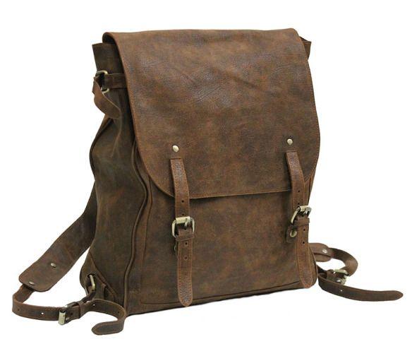 MOCHILAS DE CUERO PARA HOMBRE - vintage leather backpack rucksack RUAVINTAGE.COM | Tienda online de bolsos de hombre y mujer estilo retro & vintage. https://bolsosdehombre.wordpress.com