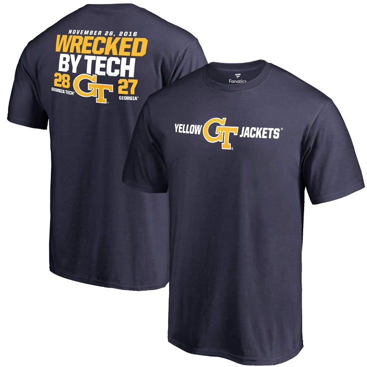 GA Tech Yellow Jackets vs. Georgia Bulldogs Fanatics Branded 2016 Score T-Shirt - Navy - $27.99