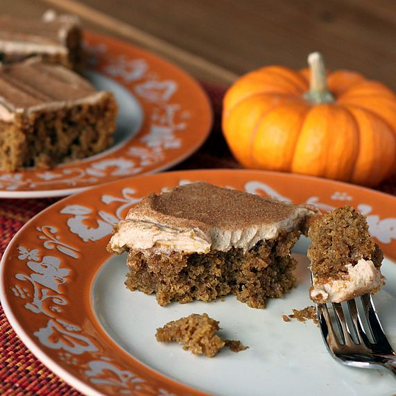 Whole Wheat Pumpkin Bars with Cream Cheese Frosting