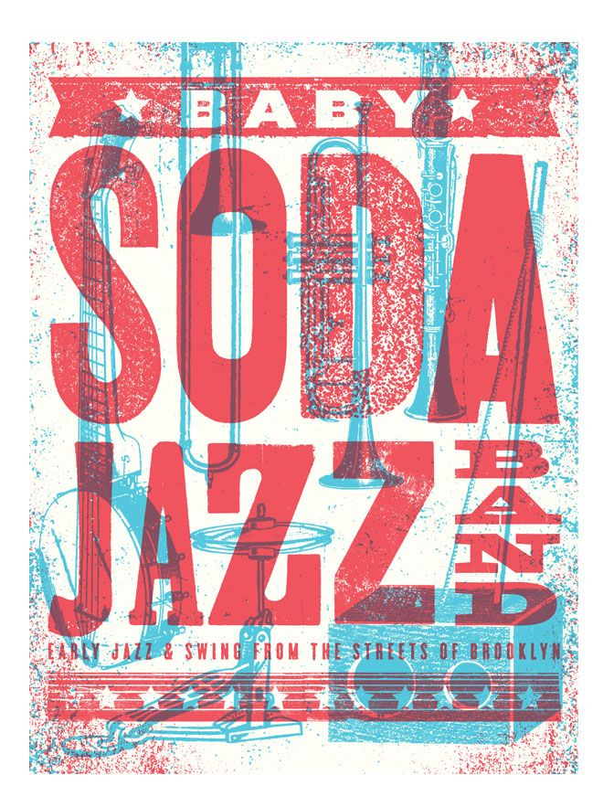 Baby Soda Jazz Posters - another beautiful screen print.